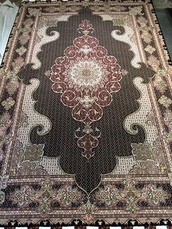 فرش دستباف نقش ماهی طرح موج مهر8